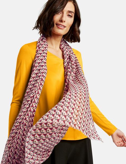 Schal mit Allover-Print Mehrfarbig OneSize