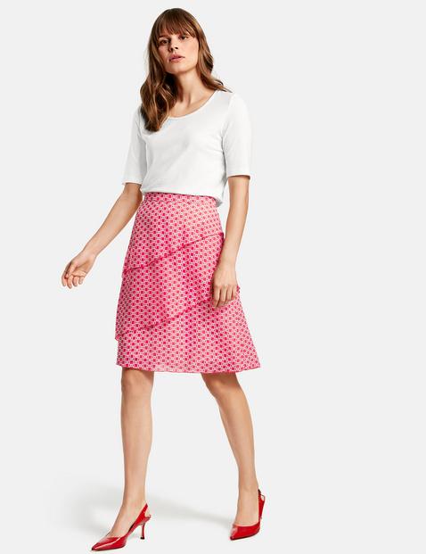 Asymetrycznie stopniowana spódnica Różowy 36/S Gerry Weber 4049598276455
