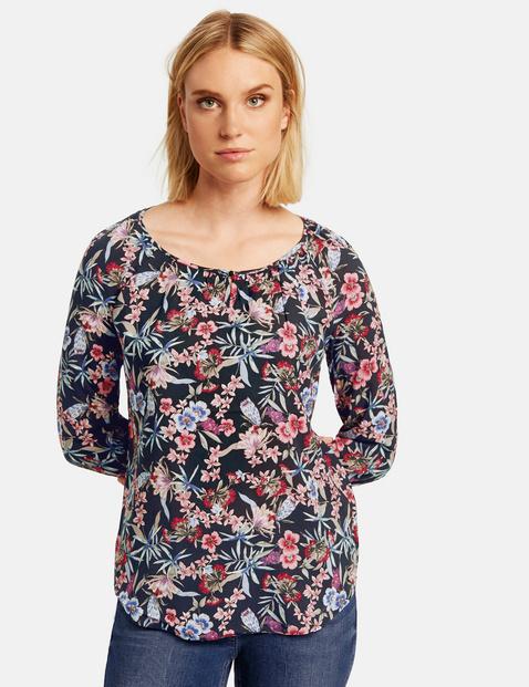Bluzka w kwiaty z rękawem o dł. 3/4 Multicolor 42/M Gerry Weber 4049598293988
