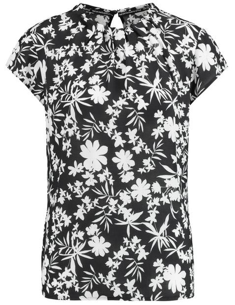 Bluzka z kwiatowym nadrukiem Czarny 40/M Gerry Weber 4049598282654