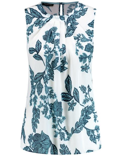 Bluzka z kwiatowym nadrukiem, bez rękawów Biały 34/XS , Minimalne zamówienie 149 zł Gerry Weber 4049598310739