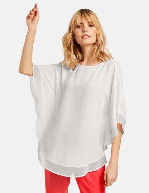 Bluzka w stylu ponczo Biały 36/S Gerry Weber 4049598299539