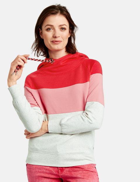 Bluza w kolorowe pasy Czerwony XXS Gerry Weber 4049598275564