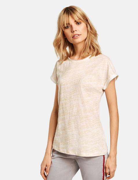 T-Shirt mit Glitzer-Front Weiss XXS