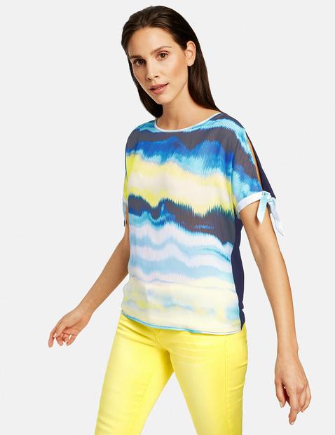 Bluzka w batikowy wzór Multicolor XXL Gerry Weber 4049598305742