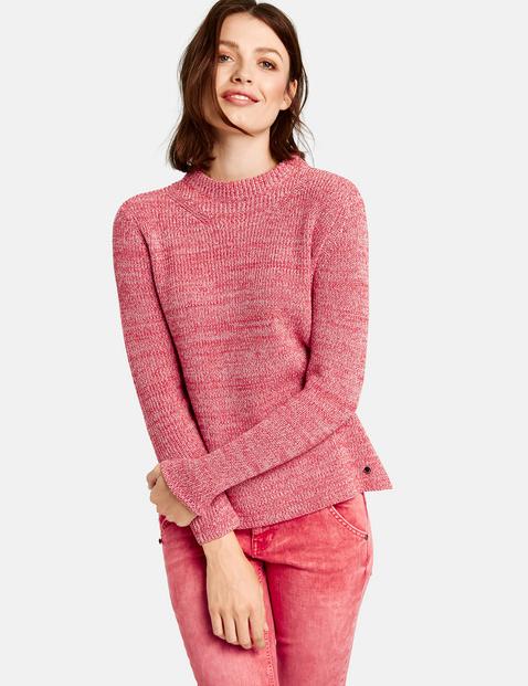 Pullover mit Turtleneck Rot XXS