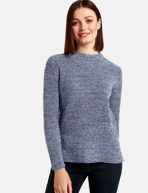 Pullover mit Turtleneck Blau XXS