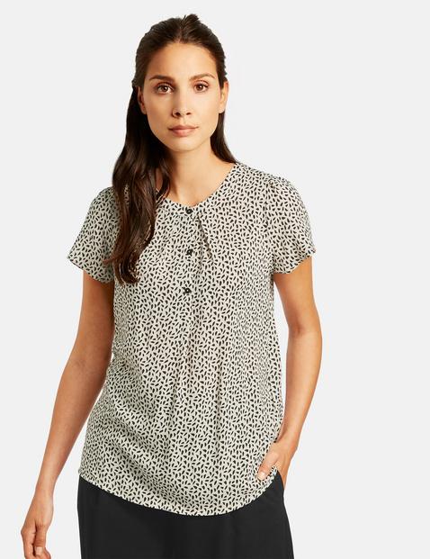 Bluza z krótką listwą guzikową Beżowy 48/XL Gerry Weber 4049598324637