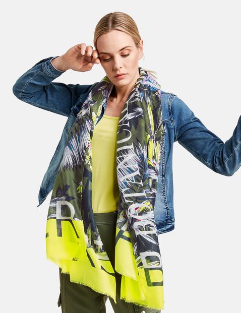 taifun - Leichter Schal mit exotischem Print Grün OneSize