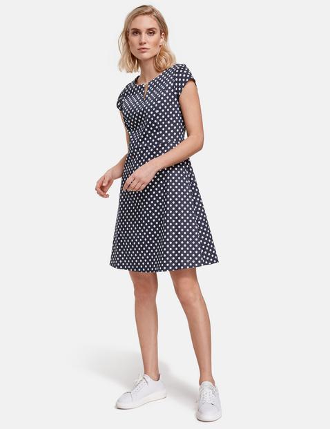 taifun - Kleid mit Punkte-Dessin Blau 48/XL