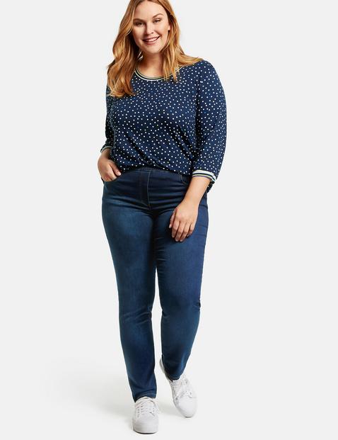 samoon - Jeggings Stretch-Jeans Lucy Blau 54/XXL