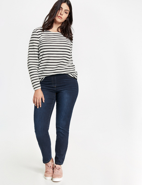 samoon - Jeggings Stretch-Jeans Lucy Blau 52/XXL