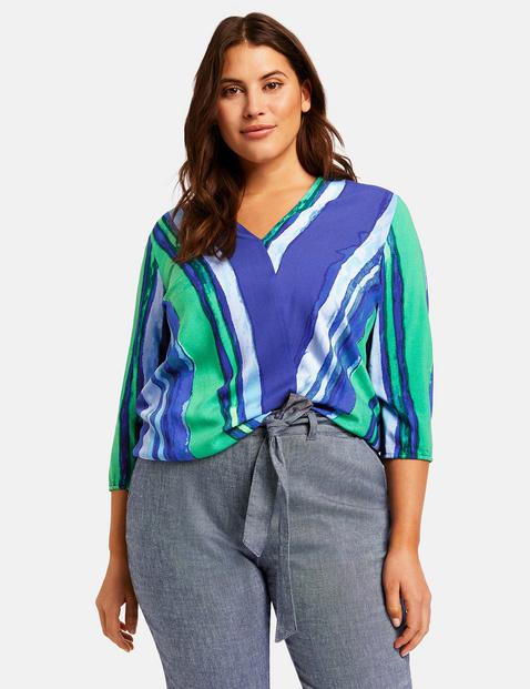 Bluzka w kopertowym stylu Multicolor 54/XXL Gerry Weber 4049602331996