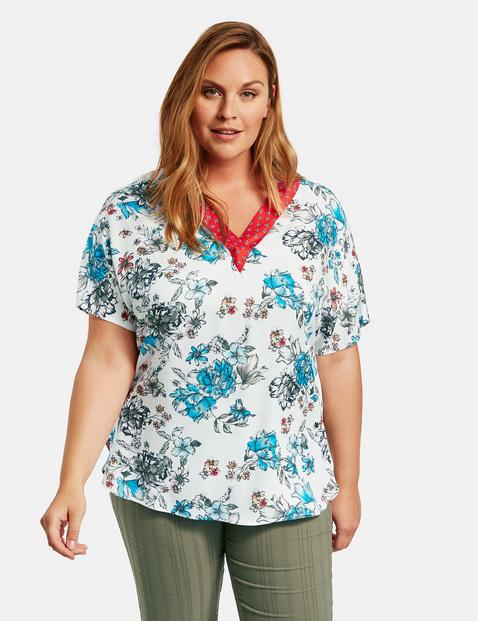 Bluzka z krótkim rękawem w różne wzory Multicolor 46/L Gerry Weber 4049602337967