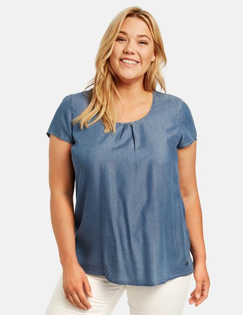 Bluzka w dżinsowym stylu Niebieski 48/XL Gerry Weber 4049602339121