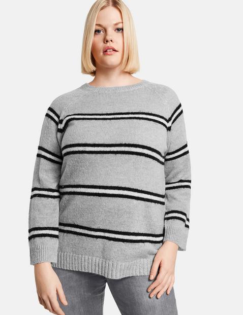 Pullover im Streifen-Look Grau 40/42