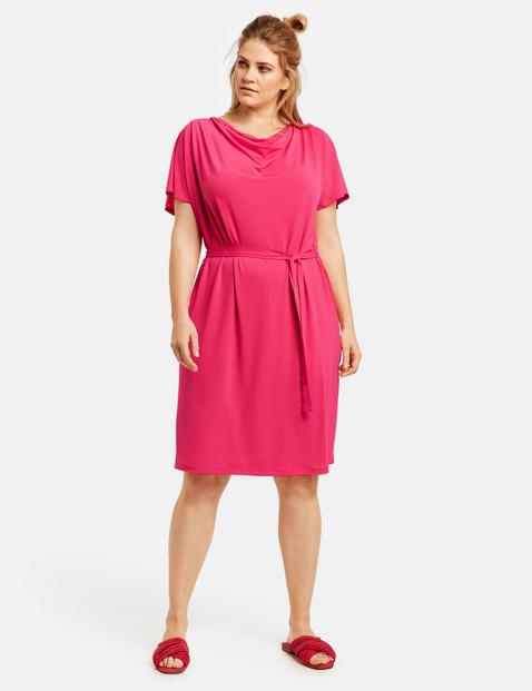 Slinky-Kleid mit Wasserfallausschnitt Pink 40/42