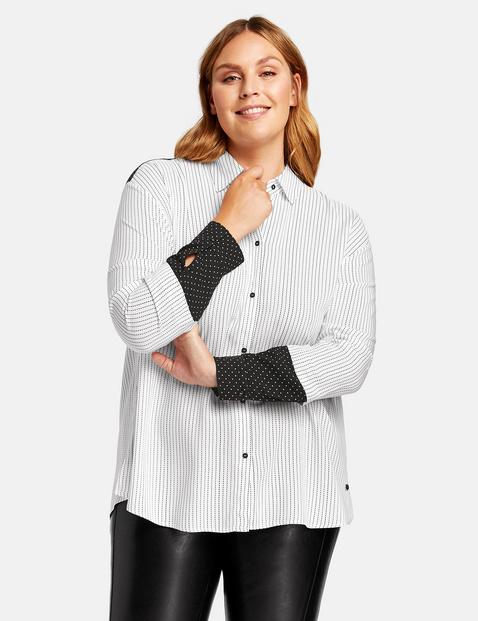Bluzka w paski Biały 40/M Gerry Weber 4049602348932