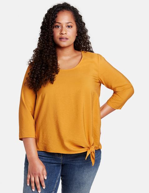 Bluzka z ozdobnym wiązaniem Żółty 50/XL Gerry Weber 4049602349304