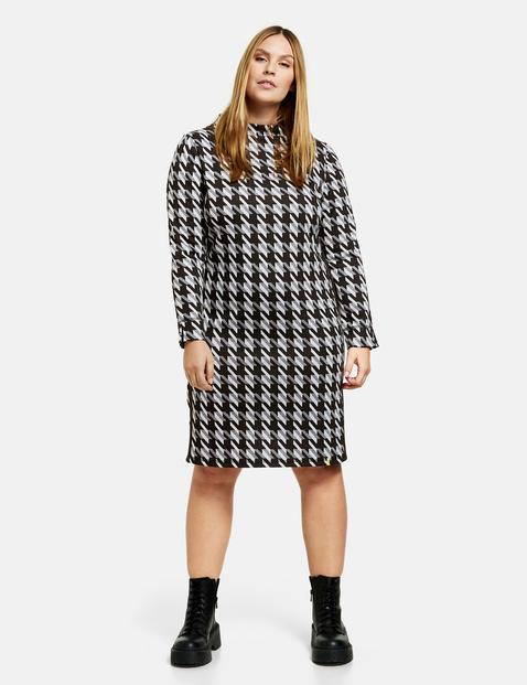 samoon - Kleid mit Hahnentrittmuster Schwarz 42/M