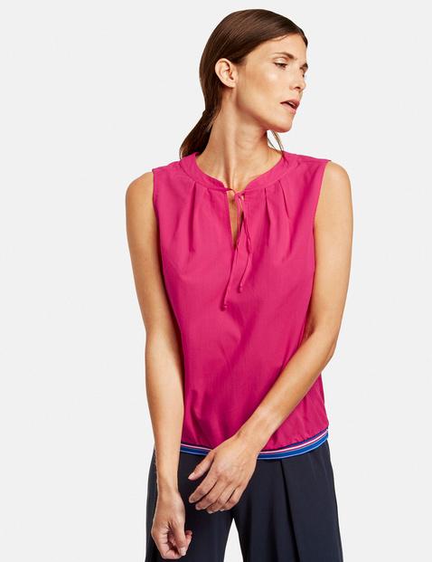 Bluzka bez rękawów z paskiem z trykotu Różowy 42/M Gerry Weber 4058425847218