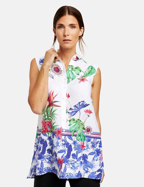 Bluzka bez rękawów z nadrukiem dżungli Multicolor 48/XL Gerry Weber 4058425848925