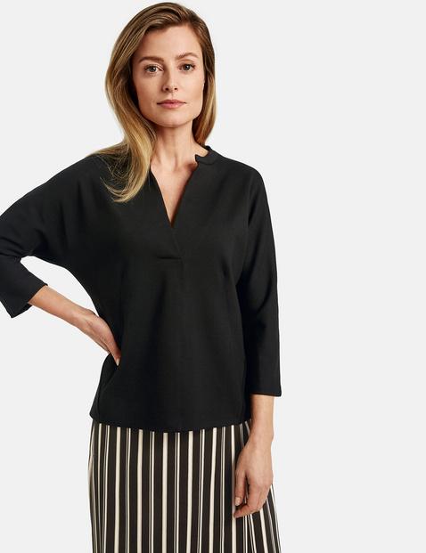 Bluza oversize z rękawami o dł. 3/4 Czarny 38/S Gerry Weber 4058425729309