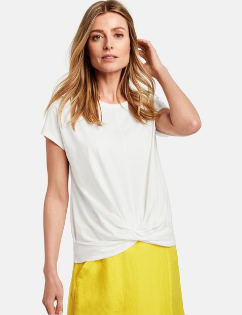 Shirt mit Wickeleffekt Weiss 36/S