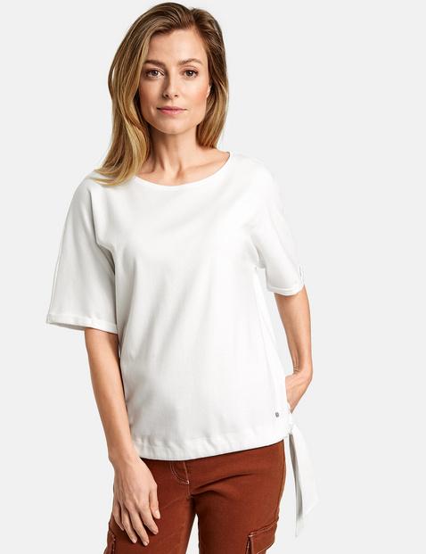 1/2 Arm Shirt mit Saumband Weiss 48/XL