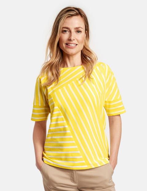 Shirt mit Streifenpatch Gelb 36/S