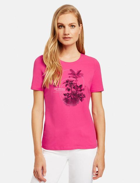 T-Shirt mit Frontprint Pink 44/L