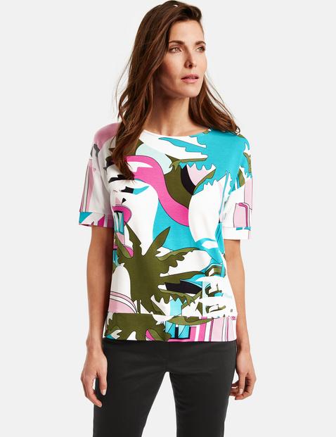 Bluza z nadrukiem, rękaw o dł. 1/2 Multicolor 48/XL Gerry Weber 4058425838605