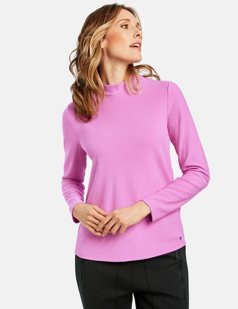 Langarmshirt mit Stehkragen Pink 48/XL