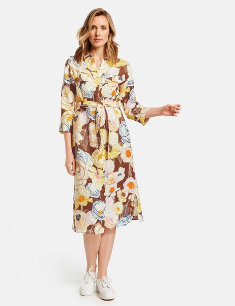 Kleid aus reinem Leinen Mehrfarbig 36/S