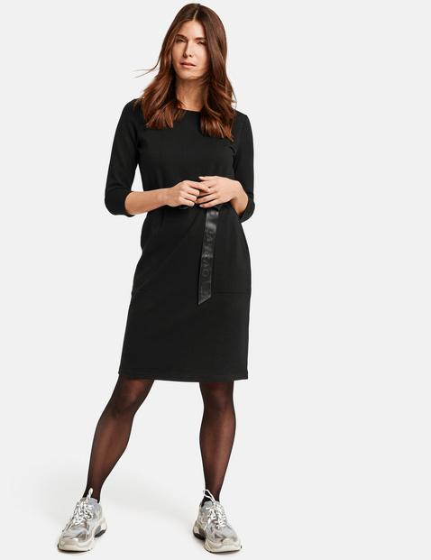 Jerseykleid mit Gürtel Schwarz 40/M