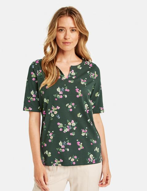Bluzka o fasonie tuniki w kwiatowy wzór Multicolor 48/XL Gerry Weber 4060938110697