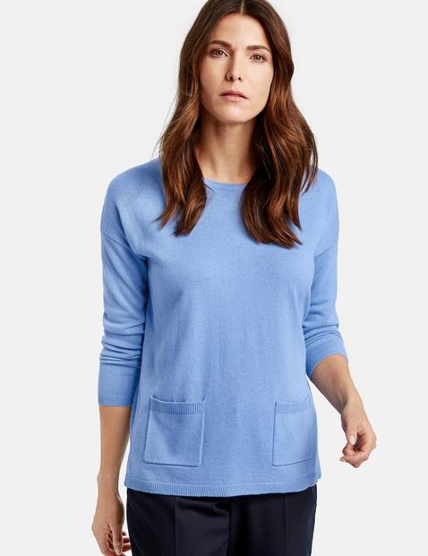 Pullover mit Wolle Blau 36/S