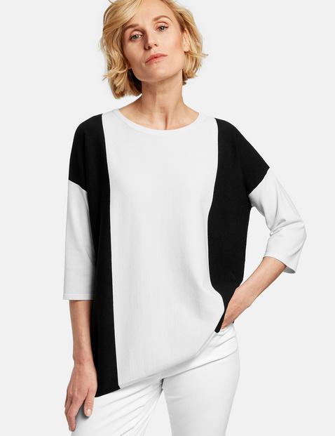 Asymetrycznie skrojony sweter Biały 42/M Gerry Weber 4058425719249