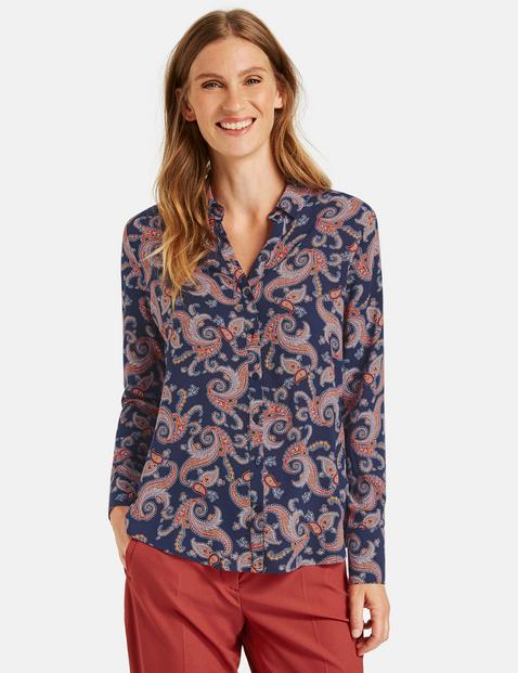 Bluzka koszulowa we wzór paisley Multicolor 48/XL Gerry Weber 4058425988119