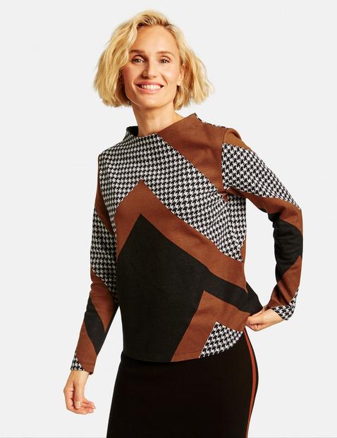 Bluza w patchworkowym stylu Multicolor 38/S Gerry Weber 4058425926043