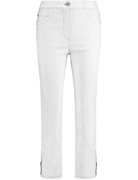 gerry weber - Verkürzte Jeans organic cotton Weiss 48/XL