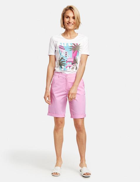 Bermudy z wywiniętymi nogawkami Różowy 42/M Gerry Weber 4058425744456