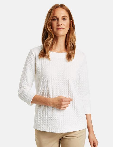 Bluza w żakardowym stylu Biały 48/XL Gerry Weber 4058425970435