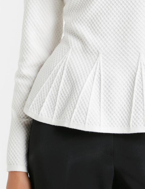 Struktur-Pullover mit Schößchen