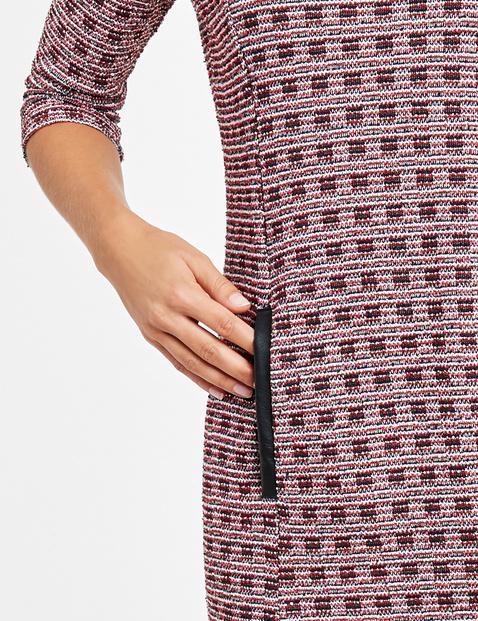 Jacquard jurk met 3/4-mouwen