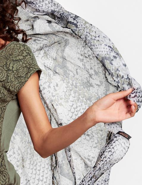 Schal mit Schlangen-Print