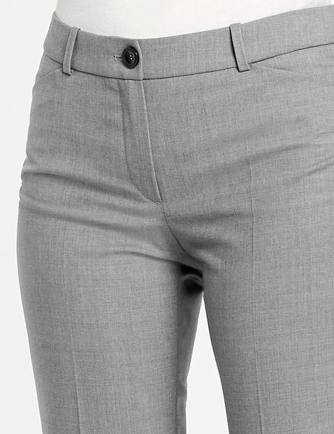 Hose aus Schurwolle Straight