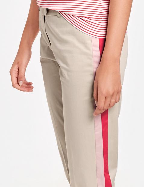 Hose mit Kontraststreifen Slim Peg Leg