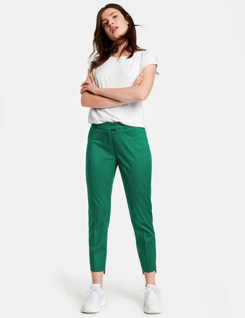 78 trousers with a high low hem, Slim Peg Leg