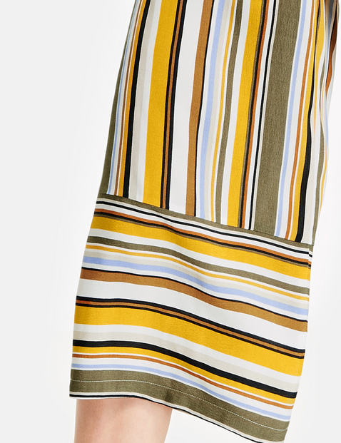 Culottes with a striped pattern, Wide Leg High